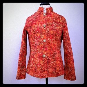 Chico's Painted Lightweight Jacket